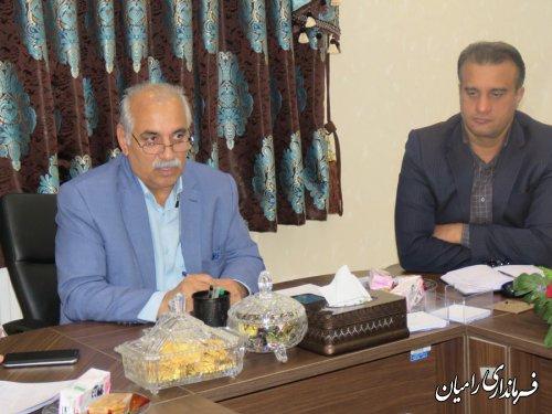 جلسه شورای  سلامت و امنیت غذایی شهرستان رامیان برگزار گردید