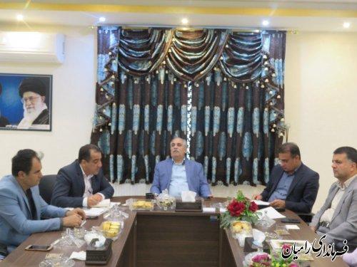 هجدهمین جلسه تمهیدات و مقدمات امور اجرایی انتخابات حوزه انتخابیه رامیان _ آزادشهر وبخش های فندرسک و چشمه ساران،بر گزار گردید