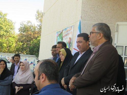 مراسم اهدای لوازم التحریر توسط شرکت ارتباطات سیار( همراه اول )،به دانش آموزان  کم بضاعت شهرستان رامیان