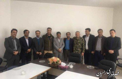دیدار جمعی از کارشناسان فرمانداری شهرستان رامیان با سرپرست بخشداری فندرسک