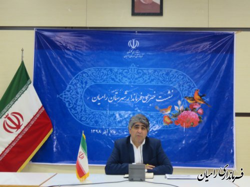 نشست خبری فرماندار شهرستان رامیان با خبرنگاران با موضوع  انتخابات برگزار گردید