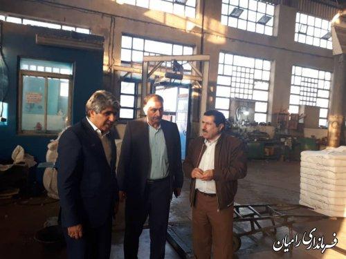 بازدید فرماندار شهرستان رامیان از کارخانه پنبه ممتاز شهرستان