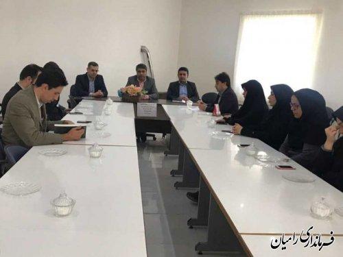 جلسه دستور شروع انتخابات در بخشداری فندرسک برگزار گردید .