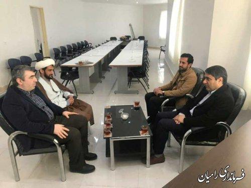 نشست لاری کمان بخشدار فندرسک با رئیس کمیته امداد امام خمینی (ره)