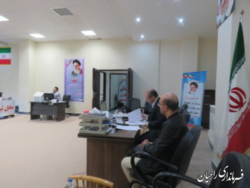 تا دومین روز ثبت نام انتخابات یازدهمین دوره مجلس شورای اسلامی در شهرستان رامیان(حوزه انتخابیه رامیان - آزادشهر وبخش های فندرسک وچشمه ساران) تعداد 11نفر ثبت نام کردند