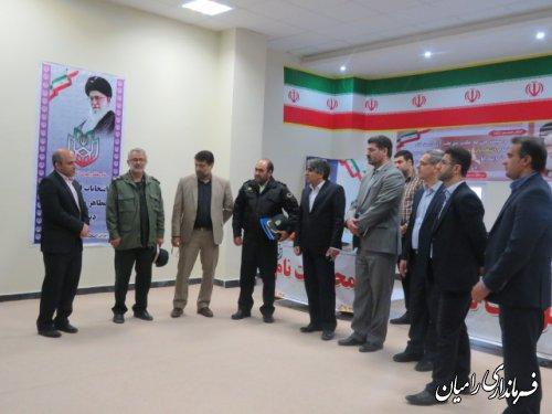 بازدید اعضای شورای تامین شهرستان رامیان  از محل ثبت نام داوطلبین یازدهمین  دوره انتخابات مجلس شورای اسلامی