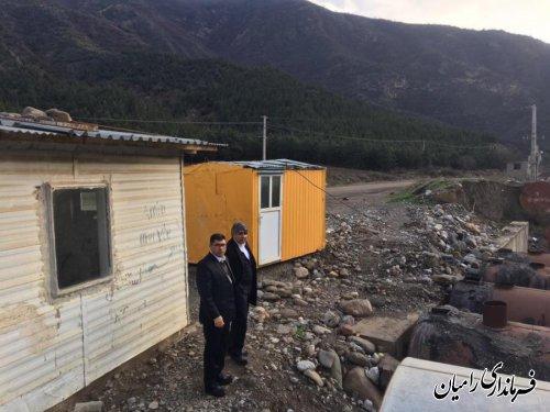 بازدید فرماندار شهرستان رامیان از پروژه های در دست اقدام و اجرای اداره راه و شهرسازی شهرستان رامیان