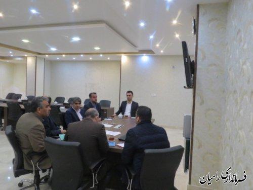 نشست ارتباط مستقیم ویدئوکنفرانس حمیدرضا چوبداری  فرماندار شهرستان رامیان با موضوع انتخابات