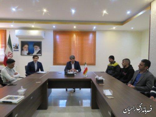 دیدار فرماندار رامیان با جمعی از بهبودیافتگان بیماری اعتیاد