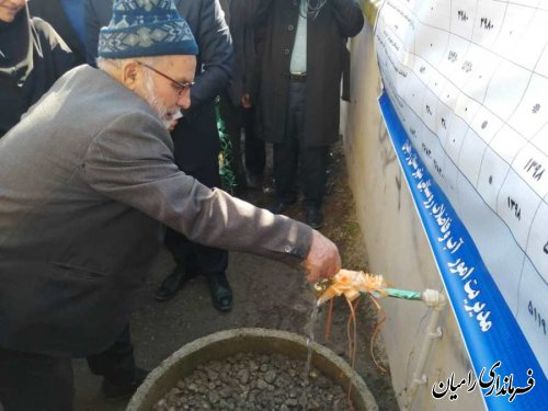 افتتاح شبکه توزیع و نصب انشعابات روستای سعدآباد فندرسک