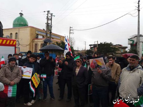 حضور فرماندار در راهپیمایی 22 بهمن در کنار مردم و مسئولین