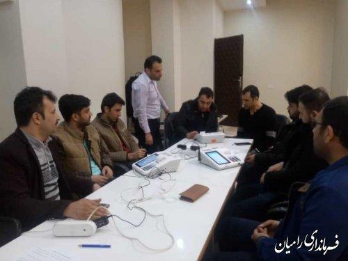 برگزاری کلاس آموزشی نحوه کار کردن با سامانه جامع انتخابات و دستگاه الکترونیکی ثبت هویت رای دهندگان در شعب اخذ رای