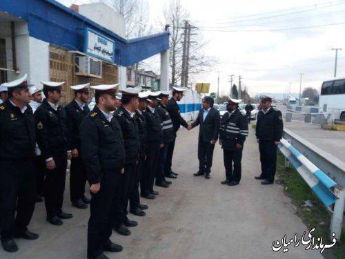 بازدید حمیدرضا چوبداری فرماندار شهرستان رامیان از پلیس راه رامیان-آزادشهر