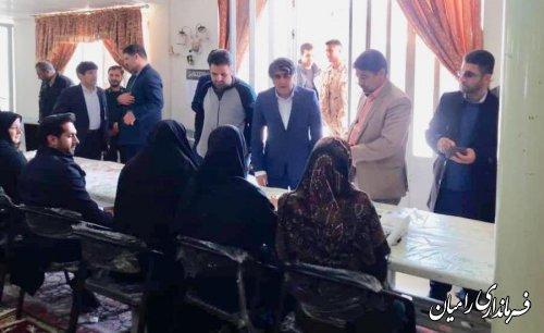 بازدید فرماندار رامیان و اعضا شورای تامین از شعب اخذ رای