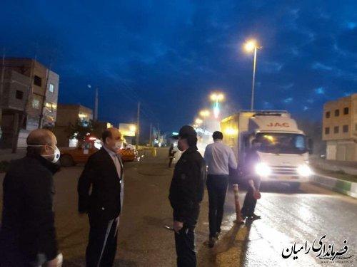 بازدید استاندار گلستان از روند اجرای طرح ملی کاهش زنجیره انتقال بیماری کرونا در شرق استان