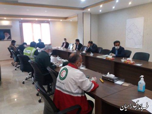 برگزاری جلسه ستاد مقابله با کرونا در شهرستان رامیان
