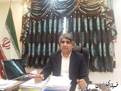 تشکر فرماندار رامیان از شوراهای اسلامی روستاها و دهیاران