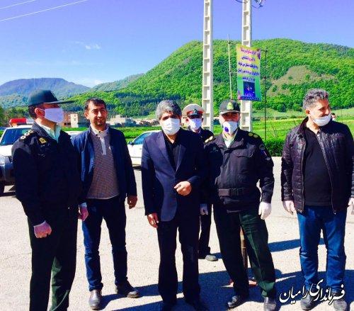 بازدید فرماندار شهرستان رامیان از محل ایست های بازرسی سطح شهرستان