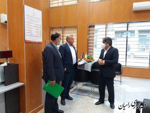 بازدید فرماندار رامیان از اصناف در مرحله دوم طرح فاصله گذاری اجتماعی
