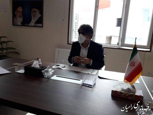 برگزاری جلسه ستاد پیشگیری و مقابله با ویروس کرونا در فرمانداری رامیان