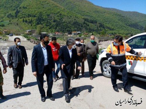 بازدید حمیدرضا چوبداری فرماندار شهرستان رامیان از روستای سیدکلاته در بخش مرکزی رامیان