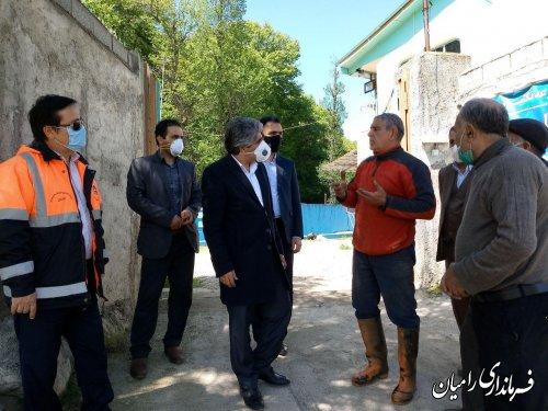 بازدید فرماندار رامیان از مزرعه پرورش ماهی قزل آلا در روستای سیدکلاته
