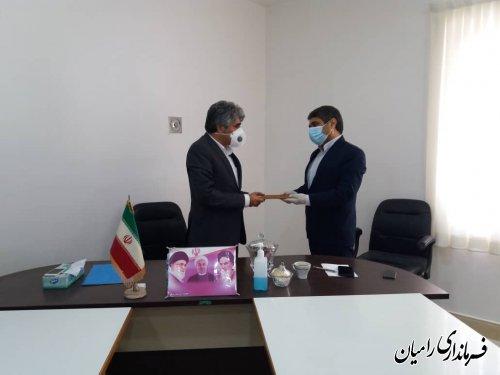 تودیع سرپرست بخشداری فندرسک با حضور فرماندار رامیان