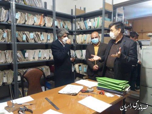 بازدید فرماندار شهرستان رامیان از برخی ادارات شهرستان
