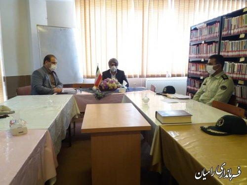 برگزاری جلسه شورای آموزش و پرورش شهرستان رامیان در کانون نعیم