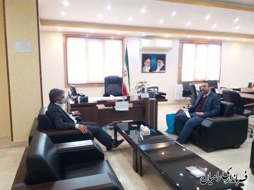 دیدار فرماندار شهرستان رامیان با مدیرعامل شرکت البرز شرقی