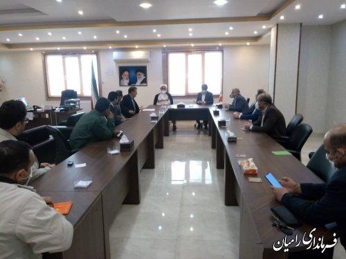 جلسه بررسی مشکلات بانک صادرات شعبه رامیان برگزار گردید