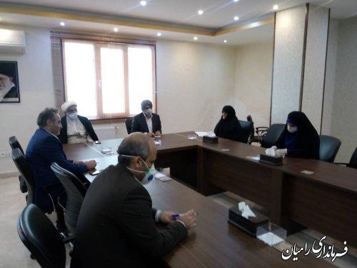 دیدار فرماندار رامیان با مدیر حوزه های علمیه خواهران استان