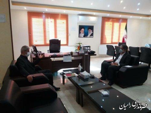 ملاقات فرماندار رامیان با مهندس کوهساری نماینده منتخب حوزه رامیان و آزادشهر