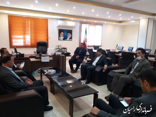 ملاقات فرماندار رامیان با مدیرکل آبفار استان گلستان