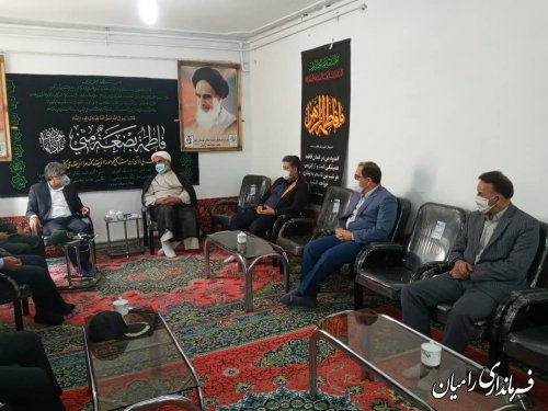 ملاقات فرماندار رامیان با حجت الاسلام دکتر طاهری امام جمعه محترم شهر رامیان