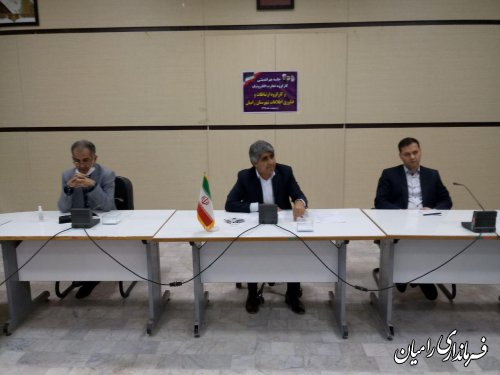 جلسه هم اندیشی  سومین کارگروه تجارت الکترونیک  و پنجمین کارگروه ارتباطات و فناوری اطلاعات شهرستان رامیان