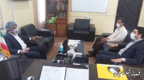 بازدید فرماندار شهرستان رامیان از شهرداری خان به بین