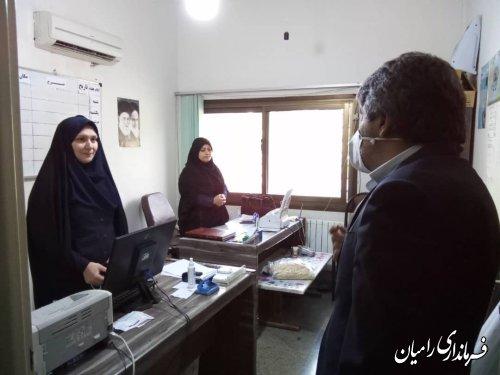 بازدید فرماندار از اداره ورزش و جوانان شهر رامیان