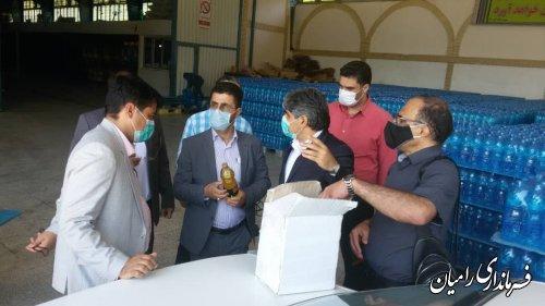 بازدید فرماندار رامیان ازکارخانه آب معدنی چشمه