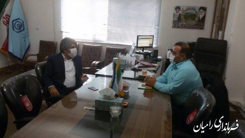 بازدید فرماندار رامیان از ادارات تامین اجتماعی و بهزیستی شهرستان