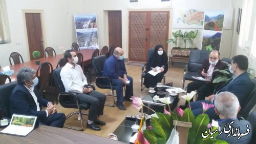جلسه هماهنگی معرفی شهر رامیان بعنوان شهر ابریشم