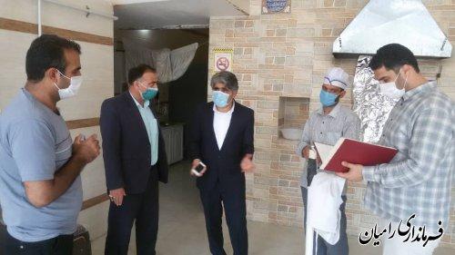 بازدید فرماندار رامیان از یک واحد نانوائی واقع در شهر خان به بین