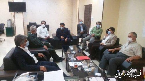 دیدار فرماندار رامیان با مدیرکل راهداری و حمل و نقل جاده ای استان