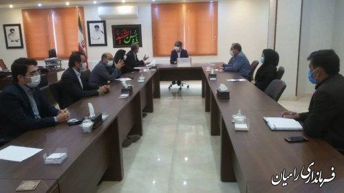 برگزاری جلسه کارگروه پسماند شهرستان رامیان به ریاست فرماندار