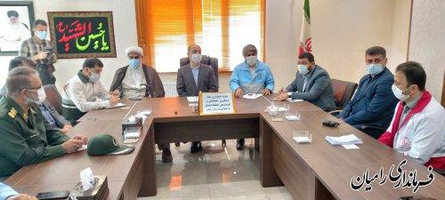 برگزاری جلسه مدیریت بحران شهرستان رامیان با حضور دکتر حق شناس استاندار گلستان