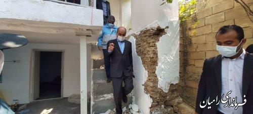 حضور استاندار گلستان در روستاهای زلزلهزده رامیان