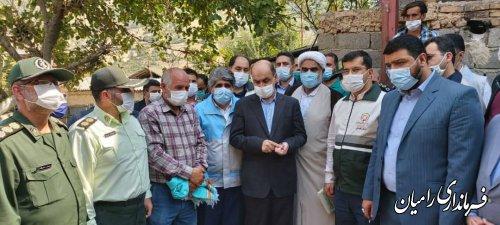 کلنگ احداث اولین واحد روستایی مقاوم و نوساز در روستاهای زلزله زده رامیان زده شد
