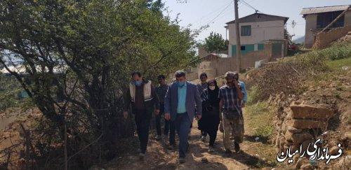 اولین سفر شهرستانی مهندس صادقلو در اولین روز کاری از روستاهای زلزله زده