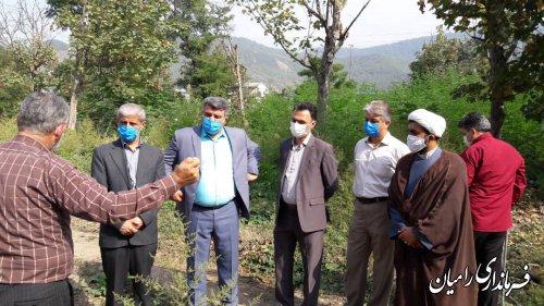 بازدید مهندس صادقلو از محل احداث بیمارستان شهدای رامیان