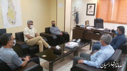 ملاقات های عمومی مهندس صادقلو در فرمانداری شهرستان رامیان